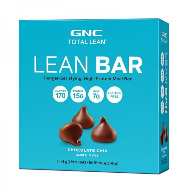 Lean Baton proteic cu aroma de fulgi de ciocolata (48g), GNC Total Lean