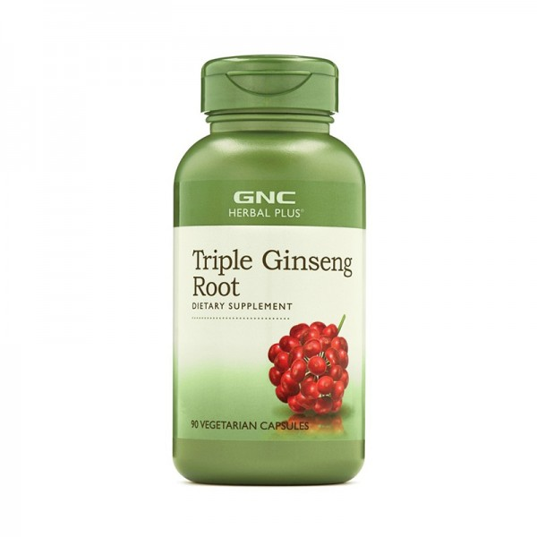 Radacina din trei tipuri de Ginseng (90 capsule), GNC Herbal Plus