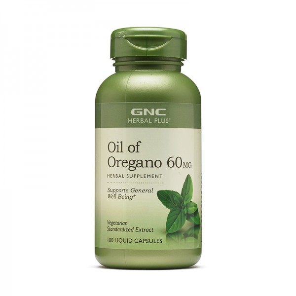 Ulei de oregano extract standardizat 60 mg (100 capsule), GNC Herbal Plus