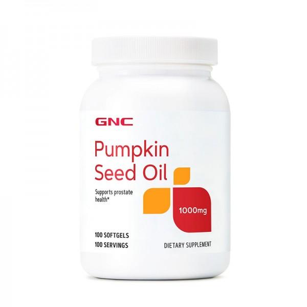 Ulei din seminte de dovleac 1000 mg (100 capsule), GNC