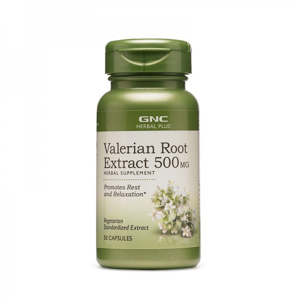 Extract standardizat din radacina de valeriana 500 mg (50 capsule), GNC Herbal Plus