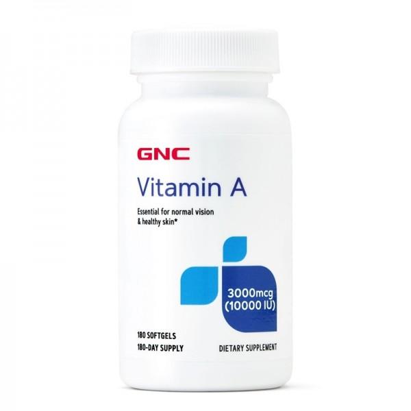 Vitamina A 10.000 UI (180 capsule gelatinoase), GNC