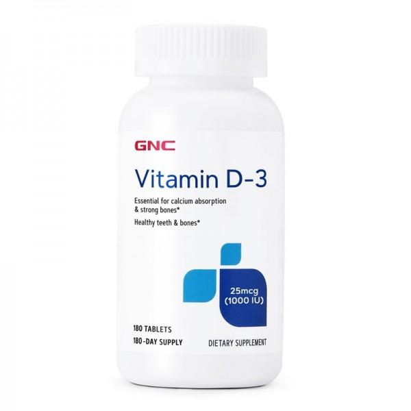 Vitamina D-3 1000 UI (180 tablete), GNC