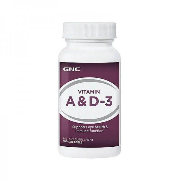 Vitamina A 5000 UI si Vitamina D-3 400 UI (100 capsule), GNC