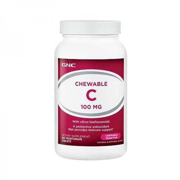 Vitamina C masticabila 100 mg (180 capsule vegetale), GNC