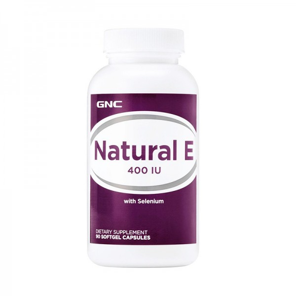 Vitamina E naturala 400 UI cu Seleniu (90 capsule gelatinoase), GNC