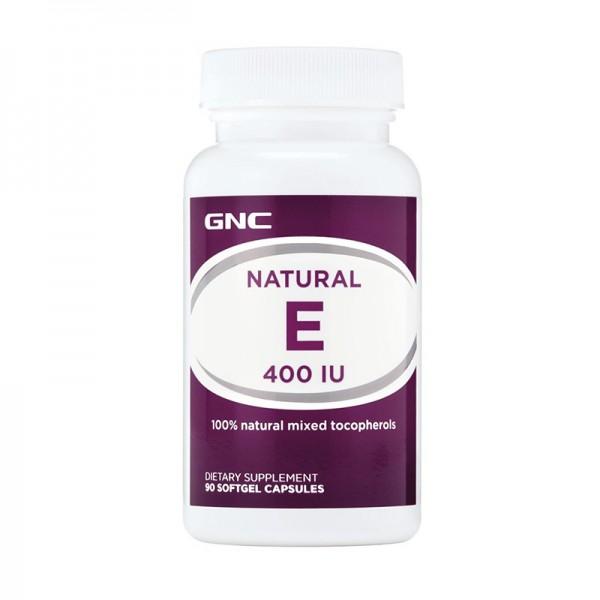 Vitamina E Naturala 400 UI Mix de Tocopheroli (90 capsule), GNC
