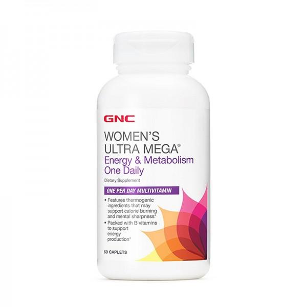 Women's Ultra Mega Energie si Metabolism, One Daily (60 capsule), GNC