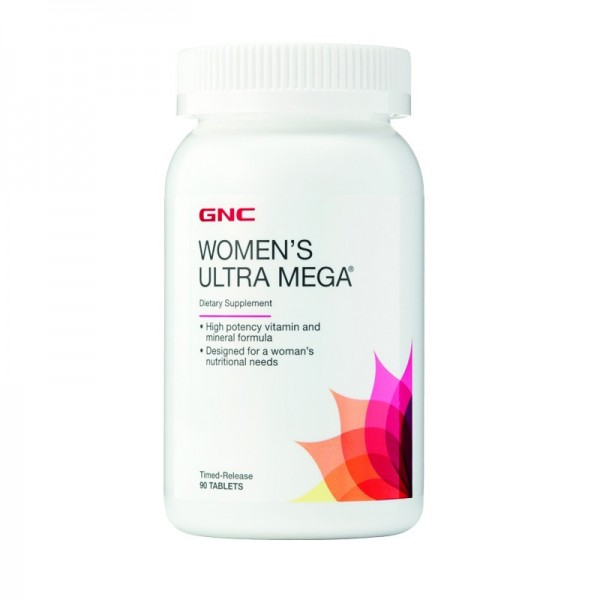 Women's Ultra Mega Multivitamin (90 tablete), GNC