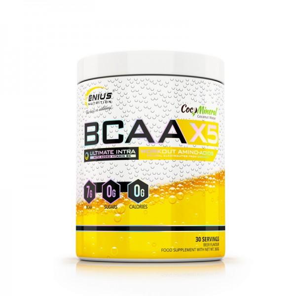 BCAA-X5 cu aroma de bere (360 grame), Genius Nutrition