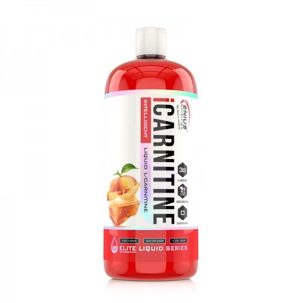 iCarnitine Liquid cu aroma de piersica (1000 ml), Genius Nutrition