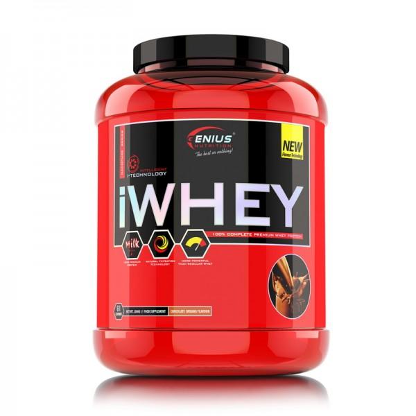 iWhey cu aroma de capsuni (2000 grame), Genius Nutrition