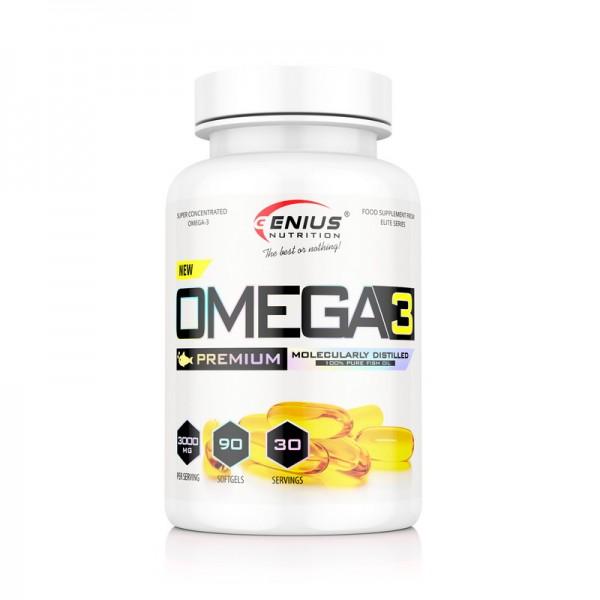 Omega-3 (90 tablete), Genius Nutrition