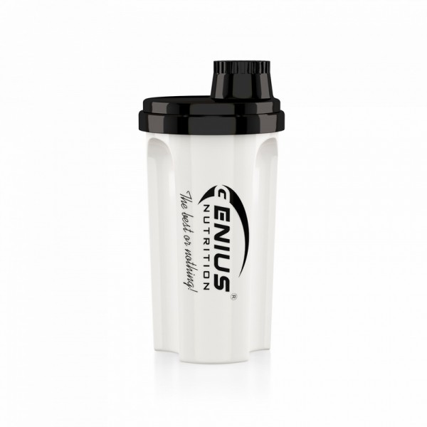 Shaker negru cu alb 700 ml, Genius Nutrition