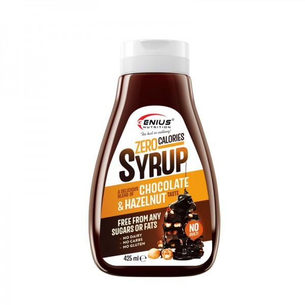 Sirop zero calorii cu aroma de ciocolata cu alune (425 ml), Genius Nutrition
