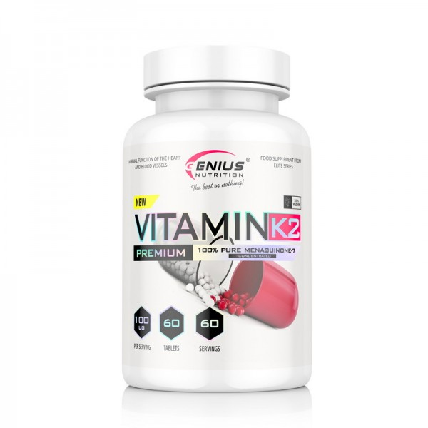 Vitamin K2 (60 tablete), Genius Nutrition