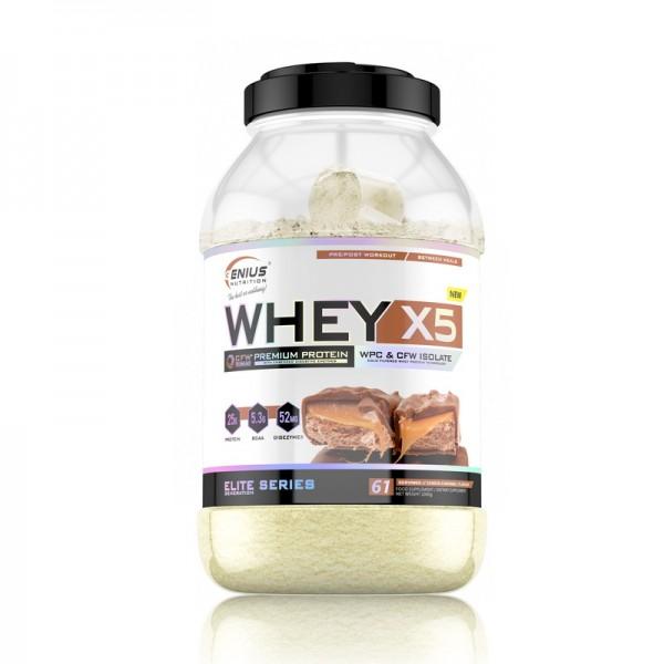 Whey-X5 cu aroma de macarons (2000 grame), Genius Nutrition
