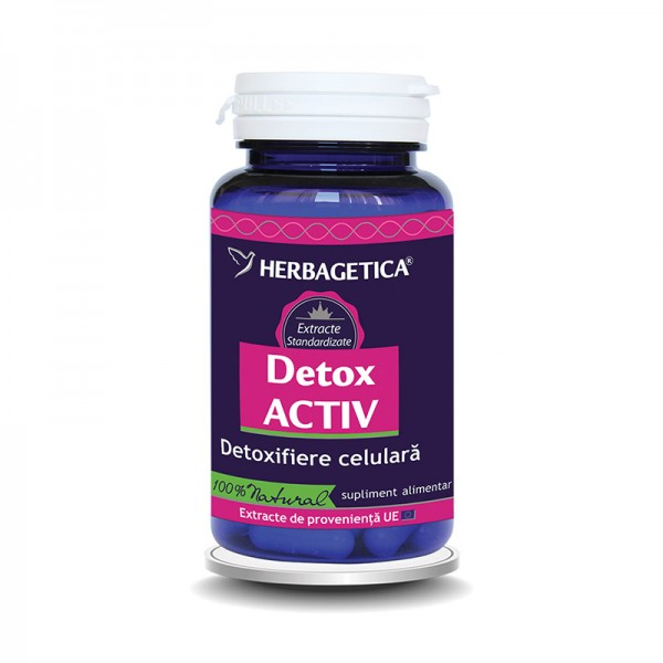 Detox Activ (60 capsule), Herbagetica