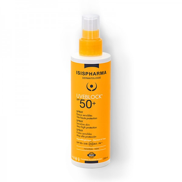 Uveblock SPF 50+ Spray cu protectie solara (200 ml), Isispharma