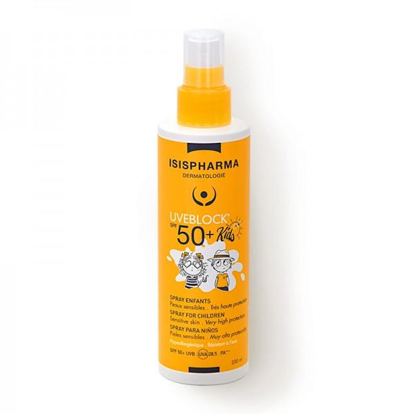 Uveblock SPF 50+ Spray Kids Spray pentru copii cu protectie solara foarte ridicata (200 ml), Isispharma