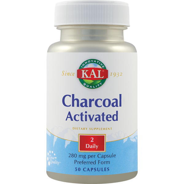 Charcoal Activated (Carbune medicinal) 280mg (50 capsule)