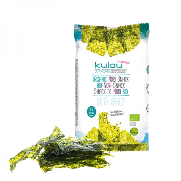 Snack din alge nori bio (4 grame), Kulau