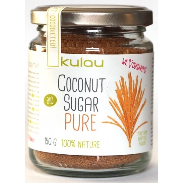 Zahar din nectar de flori de cocos bio (150g), Kulau