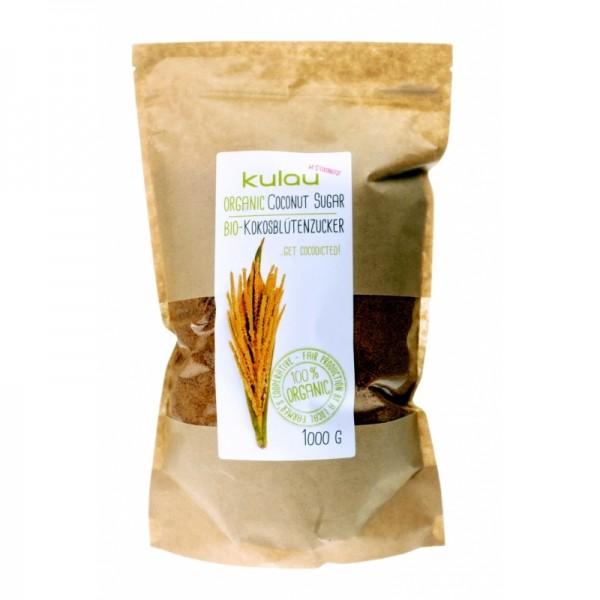 Zahar din nectar de flori de cocos bio (1kg), Kulau
