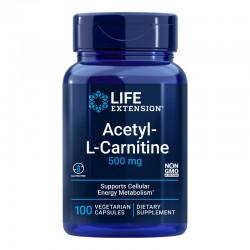 Acetil-L-Carnitină 500 mg (100 capsule), LifeExtension