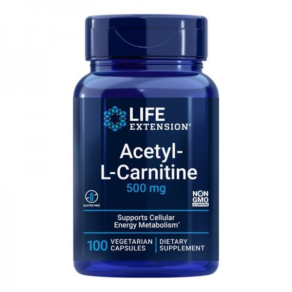 Acetil-L-Carnitina 500 mg (100 capsule), LifeExtension