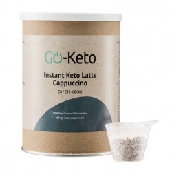Go-Keto Instant Latte Cappuccino MCT (250 g), LifeExtension