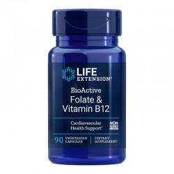 BioActive Folat cu Vitamina B12 (90 capsule), LifeExtension