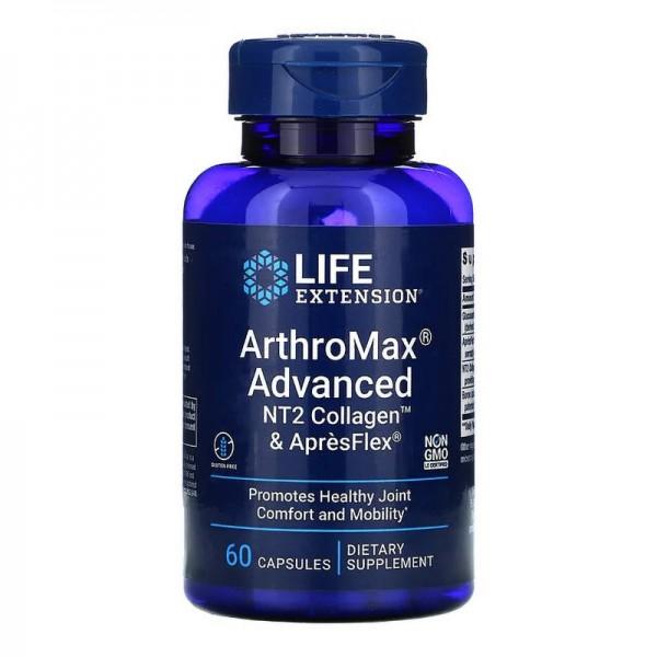 ArthroMax® Advanced cu NT2 Collagen™ și AprèsFlex® ( 60 capsule), LifeExtension