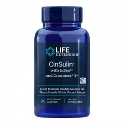 CinSulin cu InSea2 si Crominex 3+ (90 capsule), LifeExtension