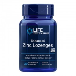 Enhanced Zinc Lozenges (30 tablete masticabile), LifeExtension