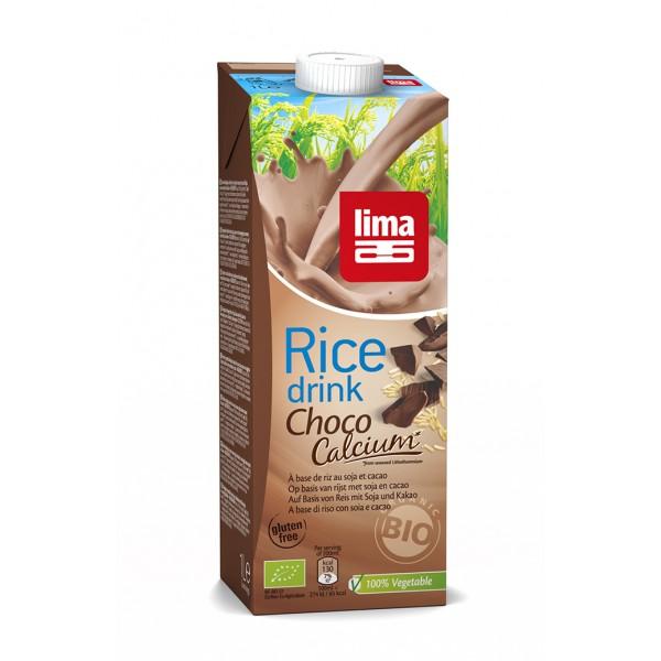 Lapte de orez cu ciocolata + soia si calciu bio (1 litru), Lima