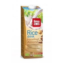 Lapte de orez cu migdale si alune de padure bio (1 L), Lima