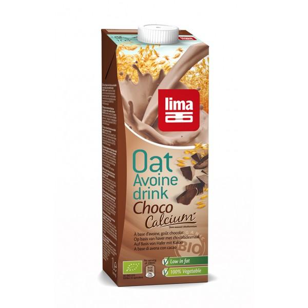 Lapte de ovaz cu ciocolata si calciu bio (1 L), Lima