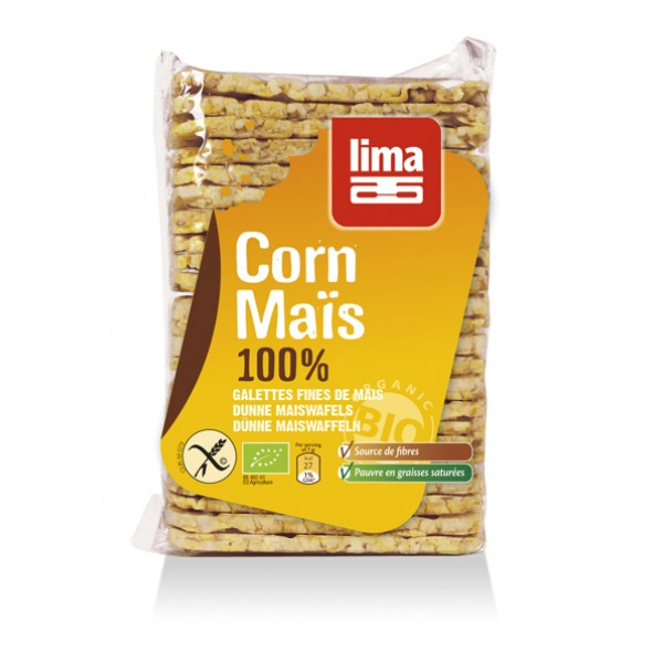 Rondele din porumb expandat bio (140 grame), Lima