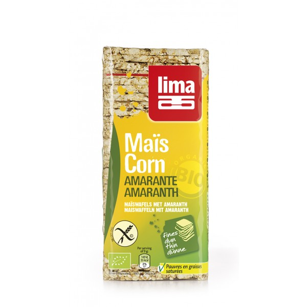 Rondele din porumb expandat cu amarant bio (130 grame), Lima