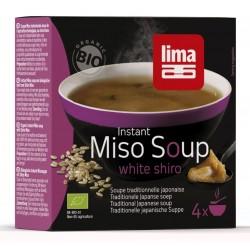 Supa Shiro Miso instant bio (4x15g), Lima