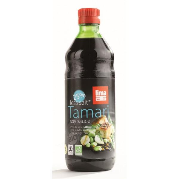 Sos de soia Tamari cu continut redus de sare bio (250 ml), Lima