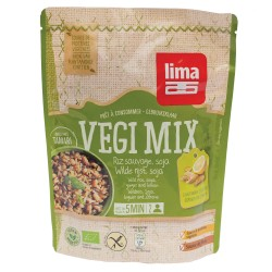 Vegi mix ghimbir, orez salbatic si soia bio (250 grame), Lima