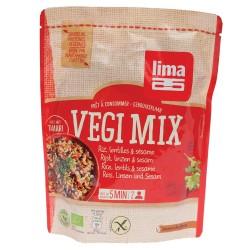 Vegi mix orez, linte si susan bio (250 grame)