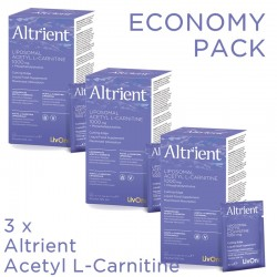 Economy Pack 3 x Altrient Acetyl L-Carnitine (30 pliculete), LivOn Labs