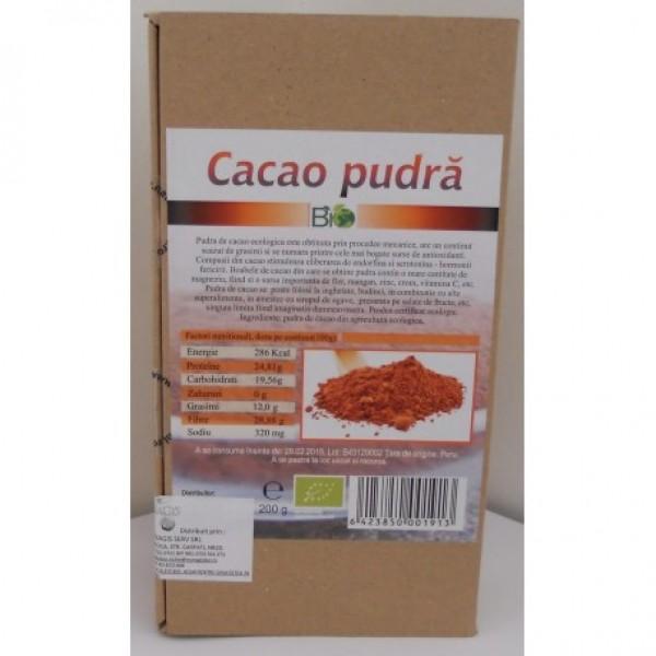 Cacao pudra bio (200 grame)