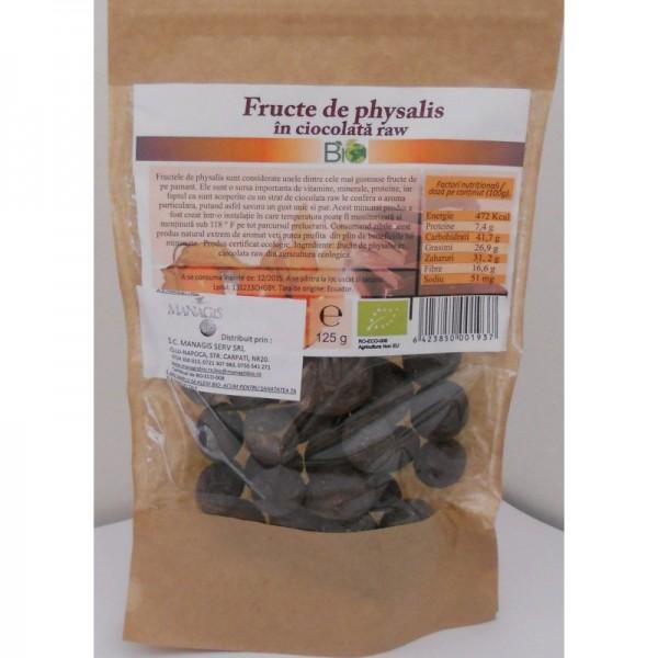 Fructe de Physalis bio in ciocolata organica (150 grame)