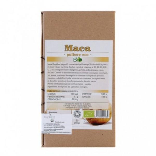 Pudra de maca bio (200 grame)