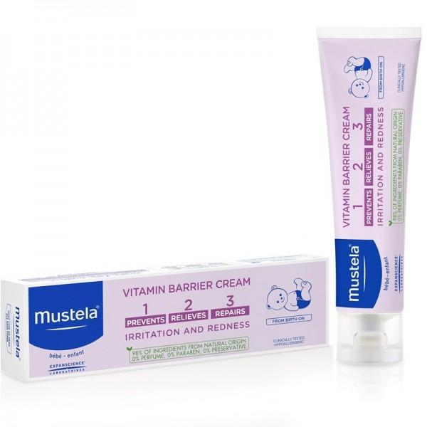 Vitamin barrier 1-2-3 - Crema pentru iritatia de scutec (100ml), Mustela
