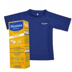 Pachet Lotiune Protectie Solara foarte ridicata SPF 50+ (100 ml) + Tricou UV Cadou, Mustela